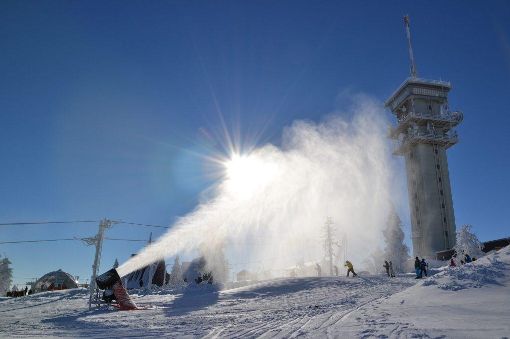 Prachtige sneeuwcondities in Klinovec.